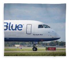 Big Apple Blue Fleece Blanket