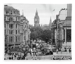Big Ben From Trafalgar Square Fleece Blanket