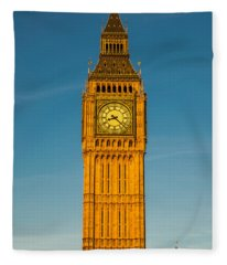 Big Ben Tower Golden Hour London Fleece Blanket