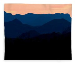 Big Bend Orange Blue Layers Fleece Blanket