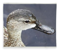 Big Brown Eyes Fleece Blanket