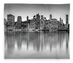 Big City Reflections Fleece Blanket