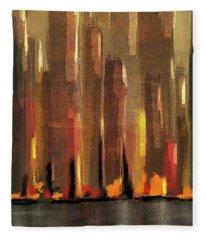Big City Sunset Fleece Blanket