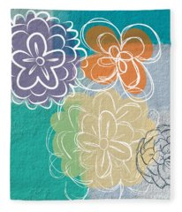 Big Flowers Fleece Blanket