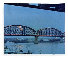 Big Four Bridge Fleece Blanket