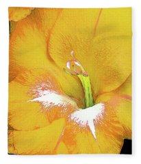Big Glad In Yellow Fleece Blanket