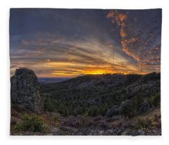 Big Rock Panorama Fleece Blanket