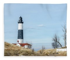 Big Sable Point Lighthouse And Tower Fleece Blanket