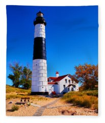 Big Sable Point Lighthouse Fleece Blanket