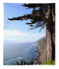 Big Sur Coastline Fleece Blanket