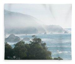 Big Sur Fog Fleece Blanket