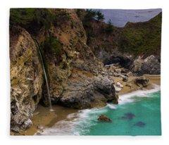 Big Sur Waterfall Fleece Blanket