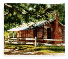 Big Thicket Information Center_the Staley Cabin Fleece Blanket