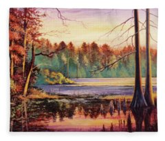 Big Thicket Swamp Fleece Blanket