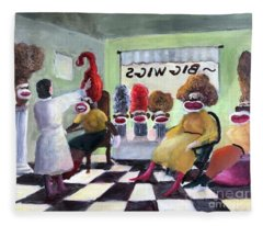 Big Wigs And False Teeth Fleece Blanket