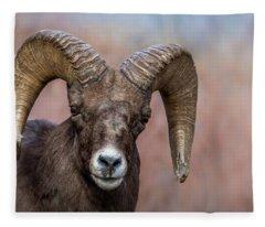 Bighorn Portrait Fleece Blanket