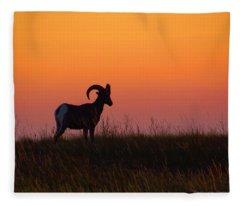 Bighorn Sunset Fleece Blanket