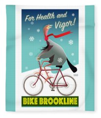 Bike Brookline Fleece Blanket