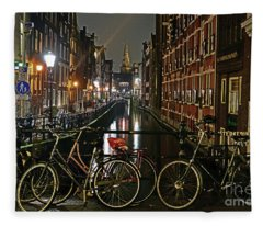 Amsterdam Bikes And Kolkswaterkering - Amsterdam Fleece Blanket