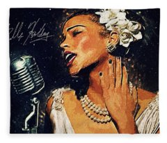 Billie Holiday Fleece Blanket