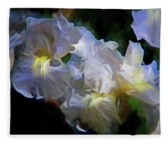 Billowing Irises Fleece Blanket