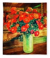 Billy's Flowers Fleece Blanket