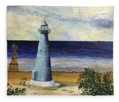 Biloxi Lighthouse Fleece Blanket