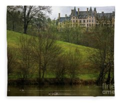 Biltmore Estate At Dusk Fleece Blanket