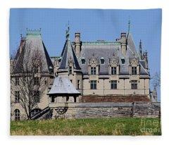 Biltmore House - Side View Fleece Blanket