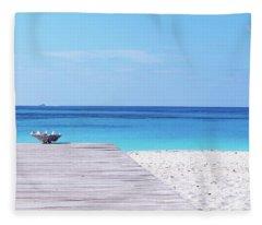 Bimini Beach Club Fleece Blanket