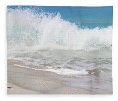 Bimini Wave Sequence 1 Fleece Blanket
