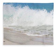 Bimini Wave Sequence 2 Fleece Blanket
