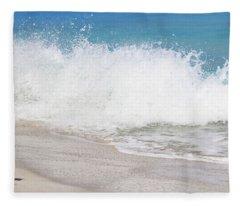 Bimini Wave Sequence 3 Fleece Blanket