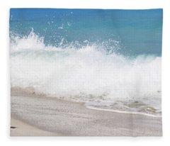 Bimini Wave Sequence 4 Fleece Blanket
