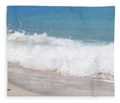 Bimini Wave Sequence 5 Fleece Blanket