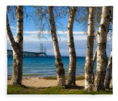 Birch At The Mac Fleece Blanket