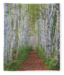 Birch Path Fleece Blanket