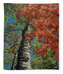 Birch Tree - Minister's Island Fleece Blanket