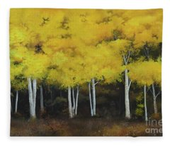 Birches Fleece Blanket