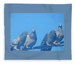 Bird Gossip Fleece Blanket