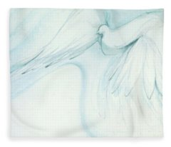 Bird In Flight Fleece Blanket