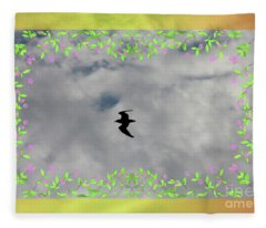 Bird In The Air Fleece Blanket
