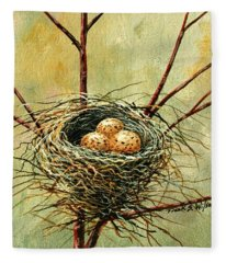 Bird Nest Fleece Blanket