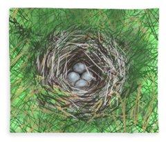 Bird Nest Fleece Blanket