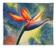 Bird Of Paradise Flower Fleece Blanket