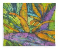 Bird Of Paradise I Fleece Blanket