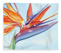 Bird Of Paradise IIi Fleece Blanket