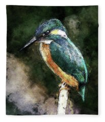 Bird On A Branch Fleece Blanket
