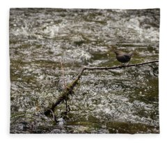Bird On A River Fleece Blanket