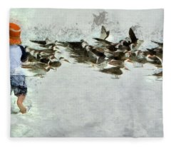 Bird Play Fleece Blanket